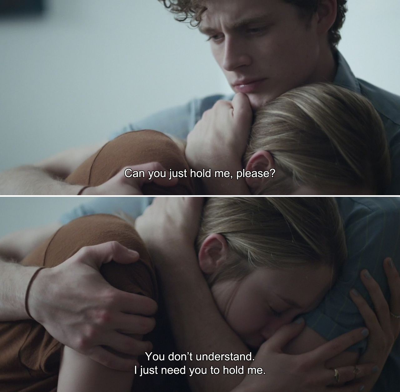 anamorphosis-and-isolate:  ― 6 Years (2015)Melanie:Can you just hold me, please? You don't understand. I just need you to hold me.