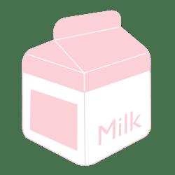 pastel transparent milk cute posts