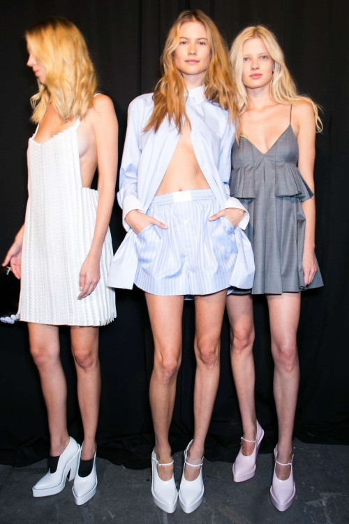 what-do-i-wear:</p><br /><br /> <p>BACKSTAGE ALEXANDER WANG S/S 2014
