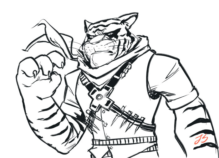 Ingunn Sara : Tiger Claw was challenging to draw, decided