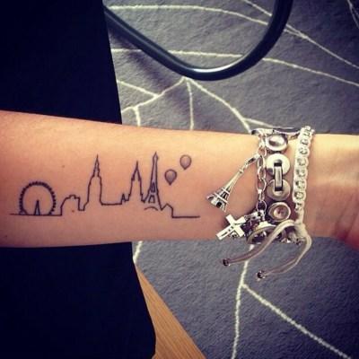 Tatuaggio skyline viaggi