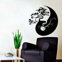 Vinyl stickers  Wall Decals Bonsai Tree Decal Vinyl