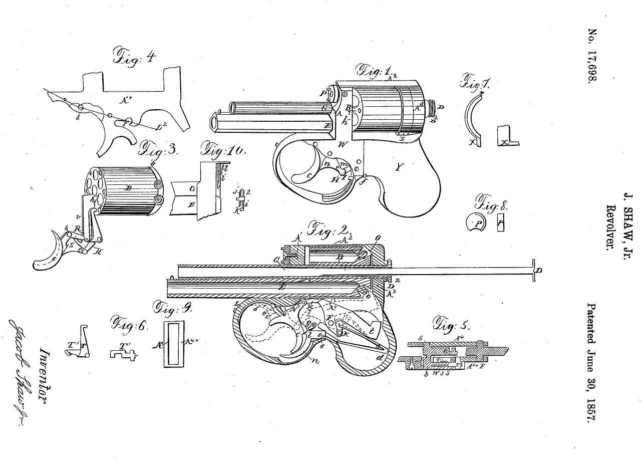- Shaw Underhammer Pistol Designed by Jacob Shaw,...