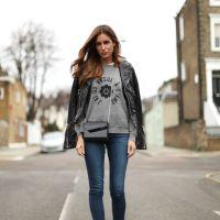 leather jacket x jeans