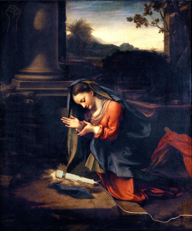 Madonna Adoring the Hitachi by Correggio.