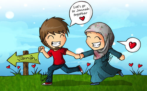 Cute Love Cartoon Couples Wallpapers Marriage In Islam Hijab Couples Islamic Marriage Ramadan