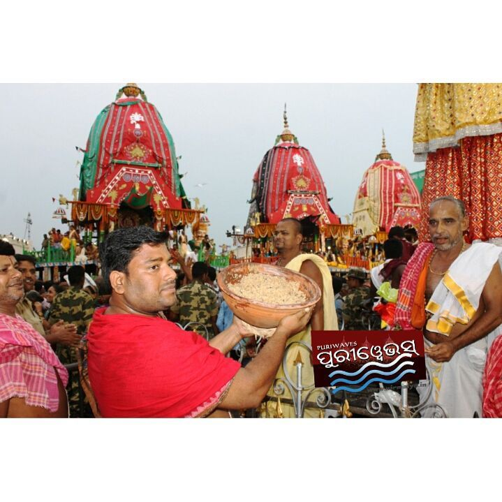 Bahuda Bada Ekadashi Prasad ChudaGhasa offering by Devotee