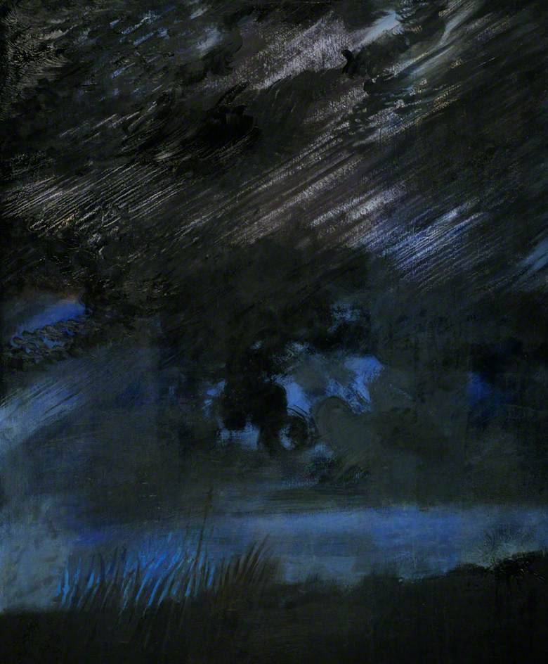 huariqueje: Night Sky  -   Edward Middleditch British  1923–1987