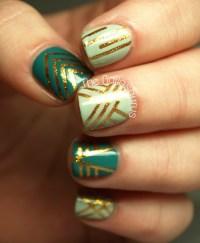 striping tape nail art | Tumblr