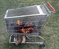 Portable and upcycled fire pit that even has a log holder ...
