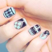 tribal aztec nail design