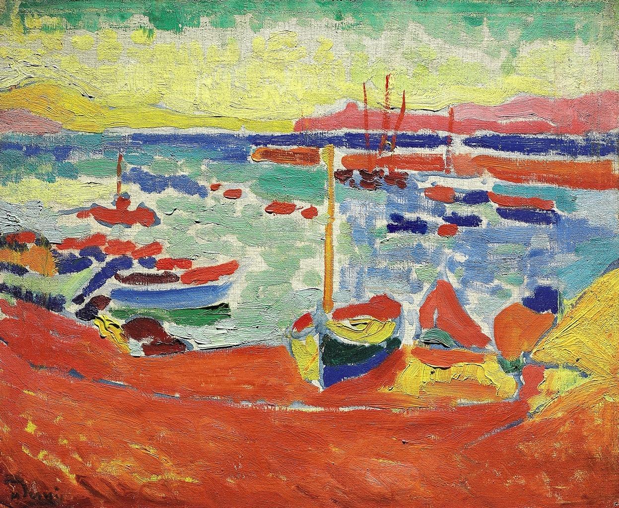 lawrenceleemagnuson:  André Derain (1880-1954) Bateaux à Collioure (1905)oil on canvas 38.4 x 46 cm