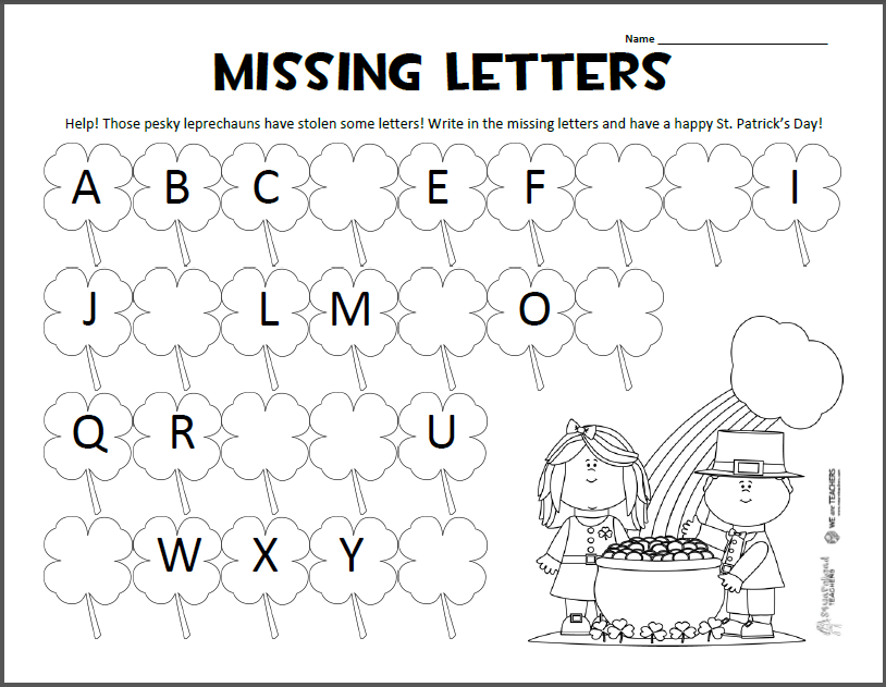Squarehead Teachers — Missing Letters