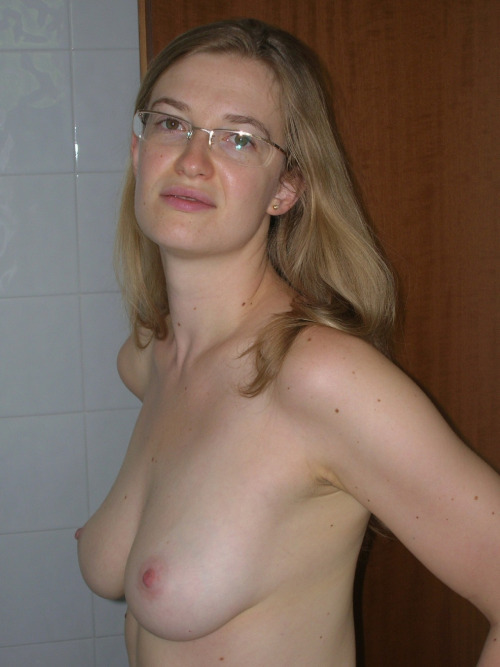 I'm a sucker for women with glasses. And her perfect breasts!