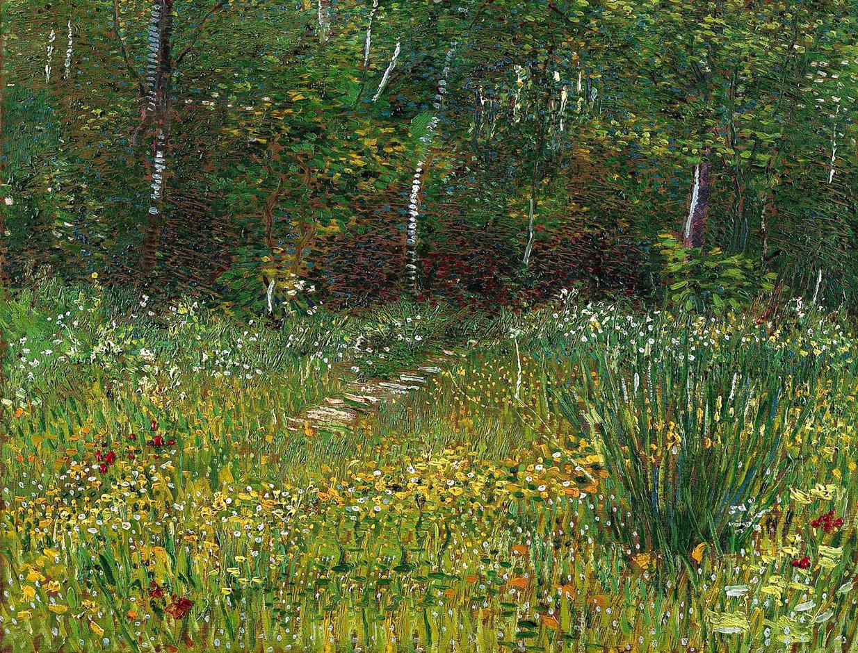 dappledwithshadow:  Vincent van GoghPark at Asnieres in Spring1887