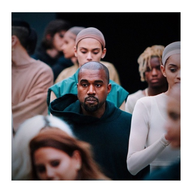Kanye West at the debut of his new line with adidas. Check out the new track 'Wolves' on our site now, link in bio.