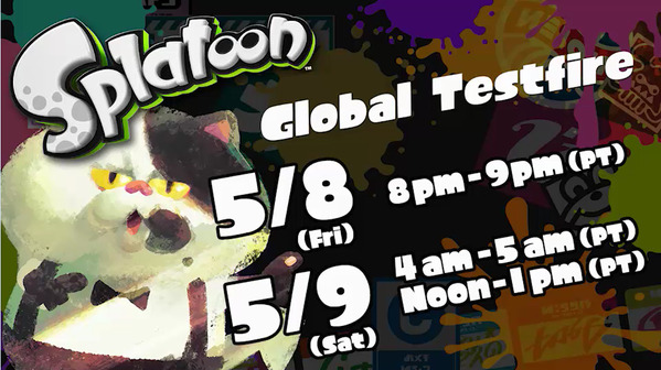 If you haven't heard, we're hosting an upcoming Splatoon Global Testfire demo event! Those of you with a Nintendo Wii U can join us, the Squid Research team, as we ink it up today and tomorrow (May 8th and 9th)! Scientifically speaking, it will be most splatacular!