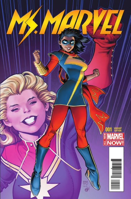 Ms Marvel dalam Cover Komik Amerika