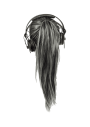 transparent hair
