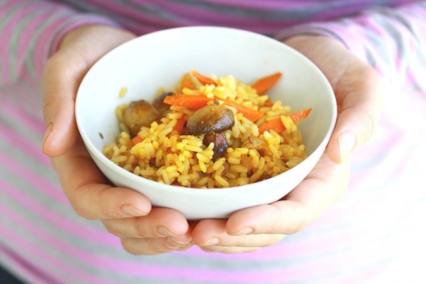 Рецепт приготовления вегетарианского плова с шампиньонами. Кулинарный блог Кухарики. Краснодар