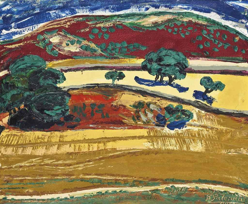 thunderstruck9:Benjamín Palencia (Spanish, 1894-1980) Cerro grana (Castilla), 1973. Oil on canvas, 54 x 65cm.