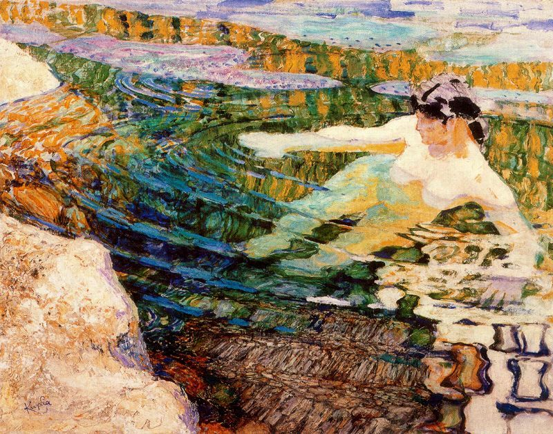 huariqueje:   Water. The Bather  -  Frantisek Kupka  1907Czech 1871-1957