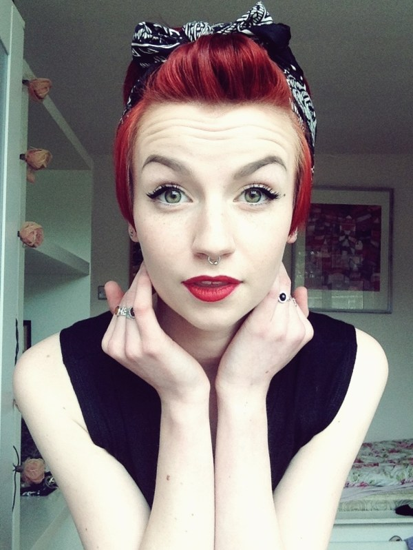 Hairstyles for Short Hair with Bandanas
