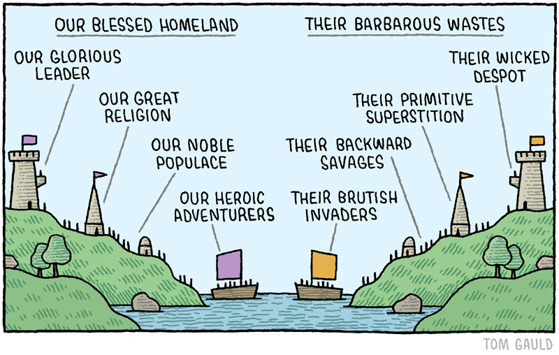 Comic by Tom Gauld.