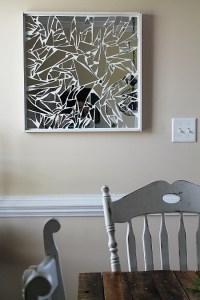 diy broken mirror wall art tutorial from brooklyn ...