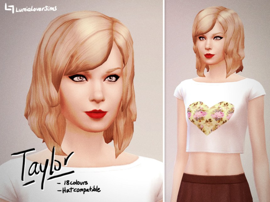 Coiffure femme Sims 4