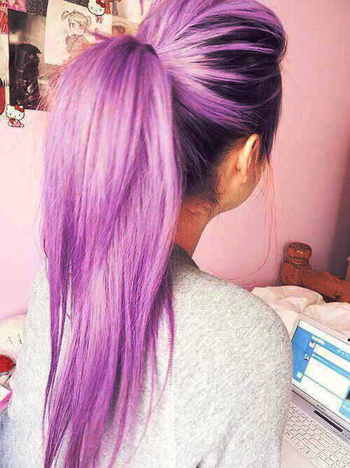 Cute Girl With Purple Hair : purple, Purple, Pastel, Colored, Hairstyle, Scene, Lilac, Lovescenehair