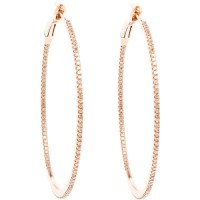 pink gold hoop earrings