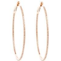 pink gold hoop earrings | Tumblr