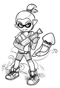 Splatoon Coloring Sheet Printable Pages Sketch Coloring Page
