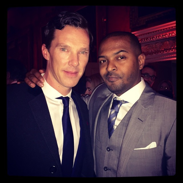 noelclarke The @bafta nominees party. With my into darkness buddy Benidict! Love this guy. Great chat. You guys know him? #baftaNom @OscarNom #sherlock