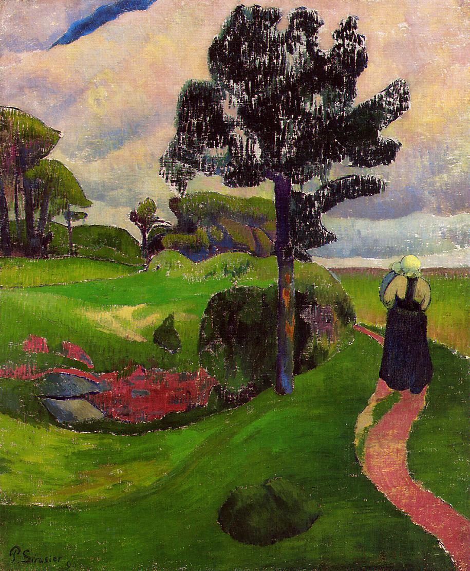 artishardgr:  Paul Serusier - Mother and Child on a Breton Landscape 1890