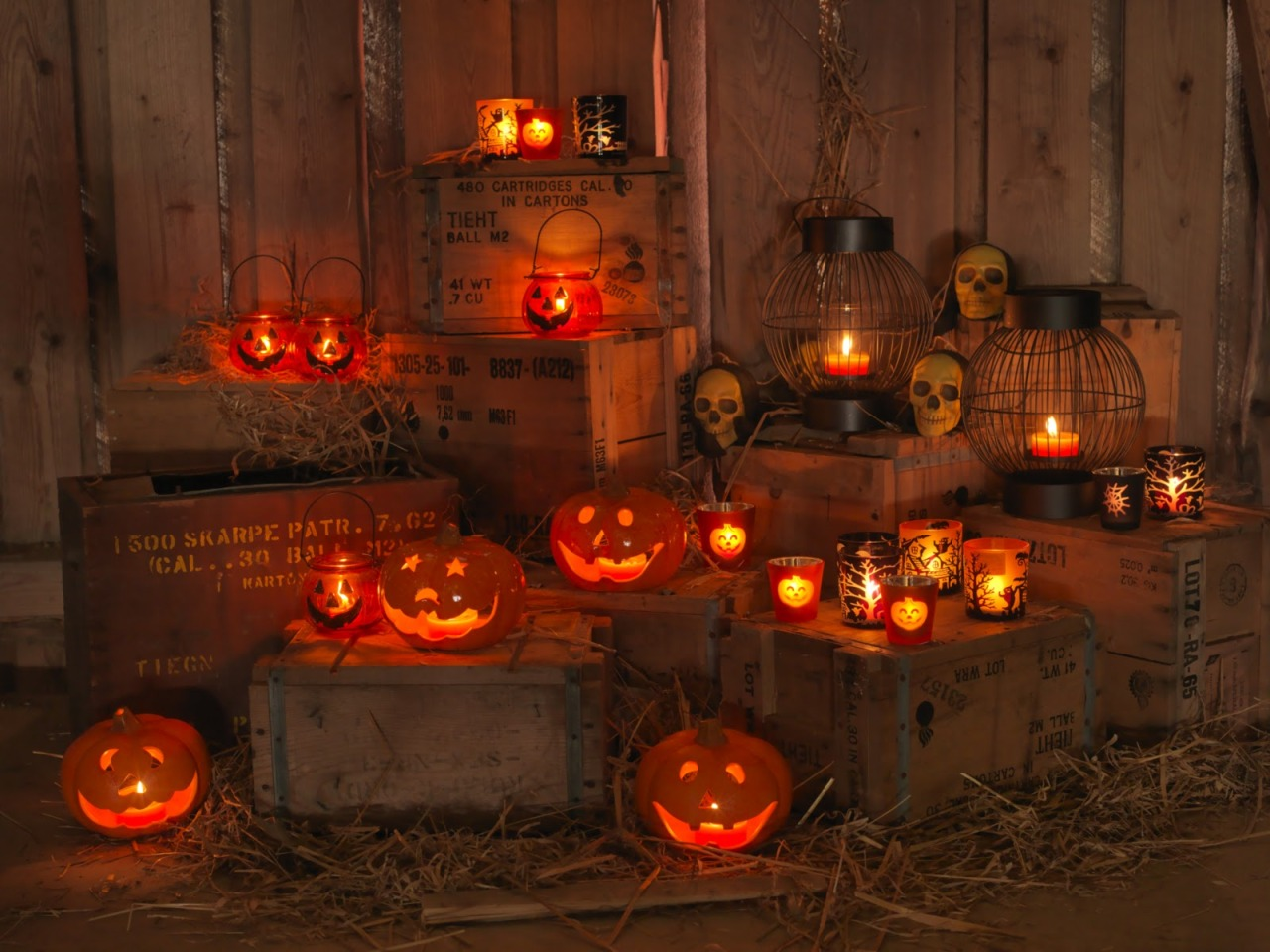 Skulls Mine Halloween Lanterns Fall Autumn October Jack O