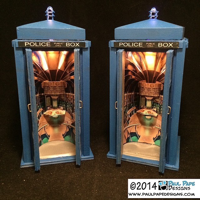 Interior of Larger on the Inside #Tardis #custom #engagement #ringbox by #paulpapedesigns