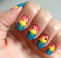 sunset nails on Tumblr
