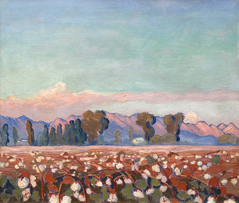 lilithsplace:'California Cotton Fields', c. 1915 - Nell Brooker Mayhew (1876–1940).source: