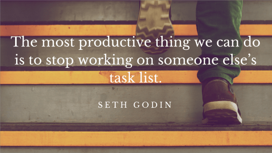 productive work seth godin quote