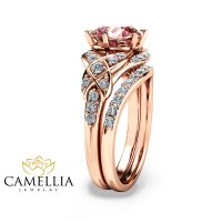 Camellia Jewelry  14K Rose Gold Engagement Ring Rose Gold