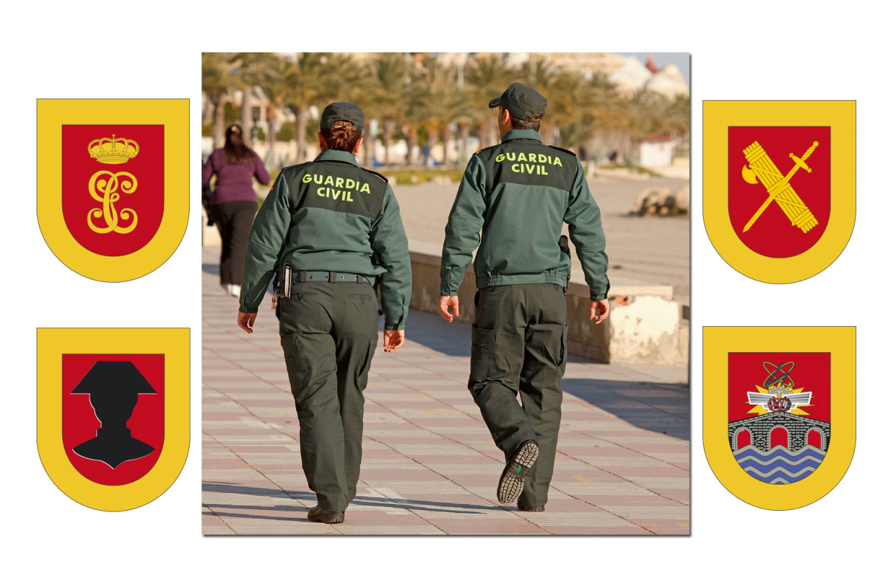 "www.guardiacivil.es  www.youtube.com / Estructura y organización de la Guardia Civil ESPECIALIDADES DE LA GUARDIA CIVIL: CÓMO NOS ORGANIZAMOS La Dirección General de la Guardia Civil, con rango de subsecretaría, es el órgano del Ministerio del Interior, integrado en la Secretaría de Estado de Seguridad, encargado de la ordenación, dirección, coordinación y ejecución de las misiones que al Cuerpo de la Guardia Civil le encomienden las disposiciones vigentes, de acuerdo con las directrices y órdenes emanadas de los Ministros del Interior y de Defensa, dentro del ámbito de sus respectivas competencias. La Dirección General de la Guardia Civil se estructura a nivel central en los siguientes órganos directivos con rango de Subdirección General:    a) Dirección Adjunta Operativa.    b) Subdirección General de Personal.    c) Subdirección General de Apoyo. La organización periférica de la Dirección General de la Guardia Civil estará constituida por las Zonas, las Comandancias, las Compañías y los Puestos. Adscritos a la Dirección General de la Guardia Civil estarán el Consejo Superior de la Guardia Civil y el Consejo de la Guardia Civil. Dependen directamente del Director General las siguientes Unidades:    a) Gabinete Técnico.    b) Asesoría Jurídica.    c) Secretaría de Despacho. Dependiente de la Dirección General de la Guardia Civil se encuentra el Centro Universitario de la Guardia Civil, con naturaleza de centro universitario público, cuya titularidad corresponde al Ministro del Interior. Dirección Adjunta Operativa La Dirección Adjunta Operativa de la Guardia Civil, con nivel orgánico de Subdirección General es el responsable de:    a) Asumir, con carácter general, cuantos cometidos y actividades le sean expresamente asignados por el Director General de la Guardia Civil, y singularmente cuanto se refiere a la cooperación internacional en el ámbito competencial del Cuerpo.    b) Dirigir, impulsar y coordinar los servicios de las unidades de la Guardia Civil, de acuerdo con las directrices emanadas del Director General. De la Dirección Adjunta Operativa dependen directamente    a) El Mando de Operaciones.    b) La Secretaría de Cooperación Internacional.    c) La Intervención Central de Armas y Explosivos.    d) El Servicio de Asuntos Internos.    e) La Unidad Especial de Intervención. Del Mando de Operaciones dependen directamente las siguientes unidades:    a) Estado Mayor    b) Jefatura de Unidades Especiales y de Reserva.    c) Jefatura de Información.    d) Jefatura de Policía Judicial .  e) Jefatura Fiscal y de Fronteras.    f) Jefatura de la Agrupación de Tráfico.    g) Jefatura del Servicio de Protección de la Naturaleza.    h) Las Zonas.    i) Las Comandancias de Ceuta y Melilla . También, dependerá del citado Mando de Operaciones, el Centro de Coordinación de vigilancia marítima de costas y fronteras, y la Autoridad de coordinación de las actuaciones para hacer frente a la inmigración ilegal en Canarias. Subdirección General de Persona La Subdirección General de Personal, a cargo de un Teniente General de la Guardia Civil en situación de servicio activo, es responsable de la dirección y coordinación del desarrollo de la política de personal y educativa de la Guardia Civil. Estará adscrita a la Subdirección General de Personal la sección de la Dirección General de la Guardia Civil del Archivo General del Ministerio del Interior y la Oficina de Apoyo al Secretario del Consejo de la Guardia Civil. Del Subdirector general de Personal dependen: a) Jefatura de Personal. b) Jefatura de Enseñanza. c) Jefatura de Asistencia al Personal. d) Secretaría Permanente para la Clasificación y Evaluación.  Subdirección General de Apoyo La Subdirección General de Apoyo, a cargo de un Teniente General de la Guardia Civil en situación de servicio activo, es responsable de la dirección, coordinación y gestión de los recursos financieros y del desarrollo de la política de recursos materiales. Del Subdirector general de Apoyo dependen:    a) Jefatura de los Servicios de Apoyo.    b) Jefatura de Servicios Técnicos.    c) Jefatura de Asuntos Económicos www.guardiacivil.es  www.youtube.com / Estructura y organización de la Guardia Civil OUR STRUCTURE The Guardia Civil General Directorate, with the rank of Under-Secretary of State, is the Ministry of Interior body integrated in the Secretary of State for Security, tasked with the command, direction, coordination and implementation of the missions entrusted to Guardia Civil in accordance with the law in force, following the guidelines and orders issued by the Ministry of Interior and the Ministry of Defence in their corresponding areas of responsibility. The high-level governing bodies within Guardia Civil General Directorate, with an organizational level of Under-Directorate, are structured as follows. a) Deputy Directorate for Operations b) General Under-Directorate for Personnel c) General Under-Directorate for Support. Apart from these bodies, its Peripheral bodies comprise Regional Headquarters (""Zonas""), Provincial Headquaters (""Comandancias""), Companies (""Compañías"") and Stations (""Puestos""). The High Council of the Guardia Civil (Consejo Superior de la Guardia Civil) and the Council of the Guardia Civil (Consejo de la Guardia Civil) are included within the General Directorate. The following supporting bodies report directly to the General Director: a) General Director 's Office. b) Legal Advice. c) General Director 's Office Secretariat. The Guardia Civil University Centre, as a public university centre included in the Ministery of Interior, is answerable to the General Directorate of Guardia Civil. Deputy Directorate for Operations  The Deputy Directorate for Operations, has the category of General Under-Directorate and is responsible for: a) Performing, in general, any task entrusted to it by the General Director and, more in particular, those involving international cooperation within the competencies of GC. b) Managing, fostering and coordinating the operational activities of the Guardia Civil Units, according to the guidelines issued by the General Director. The Deputy Directorate for Operations consists of: a) Operations Command. b) International Cooperation Secretary. c) Weapons and Explosives Central Inspectorate. d) Internal Affairs Office. e) Special Intervention Unit. The following units report directly to the Operations Command: a) General Staff. b) Command Office for Specialised and Stand-by Units. c) Intelligence Command Office. d) Criminal Investigation Command Office. e) Command Office for Customs and Borders. f) Road Traffic Command Office. g) Environmental Protection Command Office. h) Regional Headquarters. i) Provincial Headquarters in Ceuta and Melilla. Also, the Coordination Centre for the Maritime Surveillance of Coasts and Borders, and the Coordinating Autority of activities against illegal immigration in the Canary Islands report directly to the Operations Command. General Under-Directorate for Personnel The General Under-Directorate for Personnel is, under the command of a serving Lieutenant General of the Guardia Civil, responsible for directing and coordinating the development of GC policies on personnel and training. The GC General Headquarters Division of the General Registry of the Ministry of Interior and the Support Office to the Secretary of the Council of the Guardia Civil will be accountable to this Under-Directorate. It consists of: a) Personnel Command Office. b) Training Command Office. c) Command Office for Assistance to Personnel. d) Permanent Secretariat for Staff Assessment and Classification. General Under-Directorate for Support The General Under-Directorate for Support is under the command of a serving Lieutenant General of the Guardia Civil, responsible for conducting, coordinating and managing financial resources, and for developing the policy on material resources. The following Offices report to this Under-Directorate: a) Support Services Command Office. b) Technical Assistance Command Office. c) Financial Services Command Office."