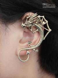 dragon earring cuff | Tumblr