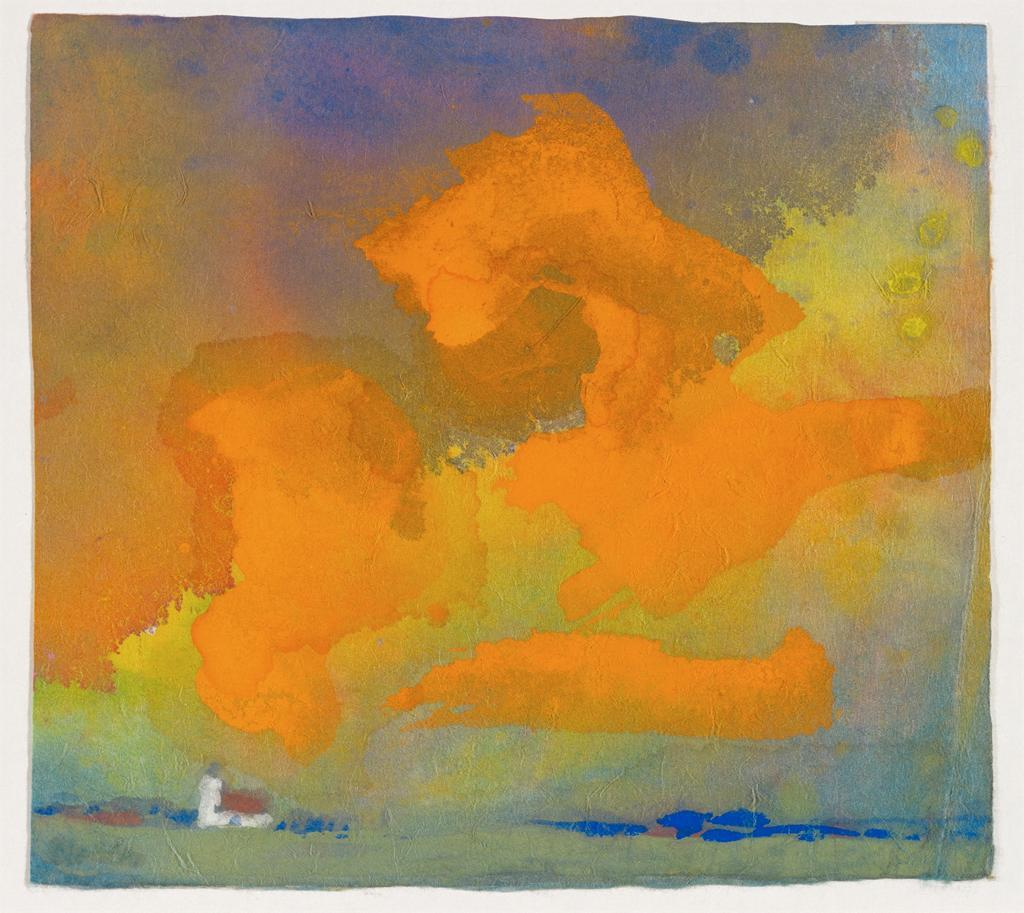 dappledwithshadow:  Red and Yellow Cloud, Emil Nolde, c.1930