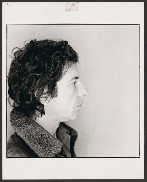 Leonard Cohen, 1977. Photograph by Arnaud Maggs. Found at Library and Archives Canada.