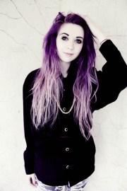 purple ombre scene hair