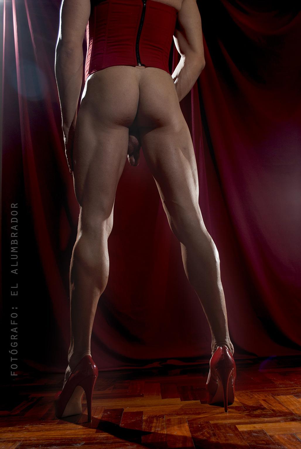 Muscular crossdressers big cocks Hung Crossdresser Tumblr