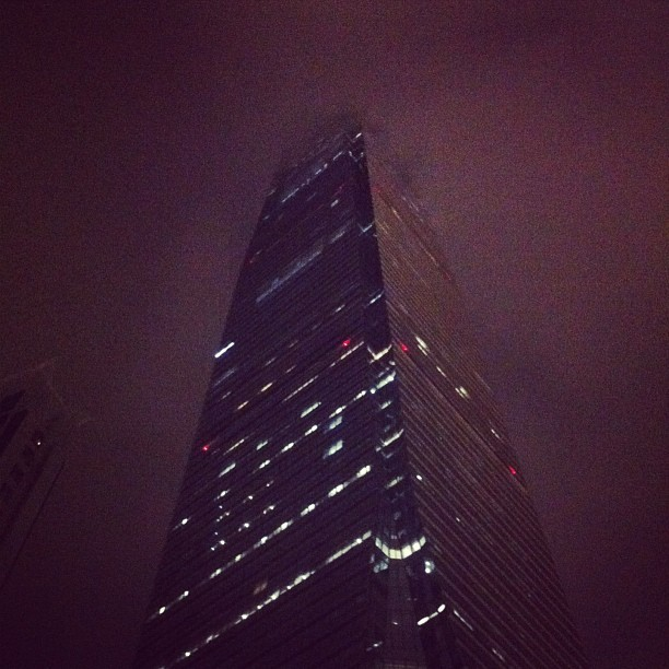 This building disappears into the clouds. What's at the top, and how high is it? Let's go! #hk