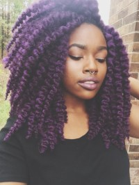purple crochet braids | Tumblr